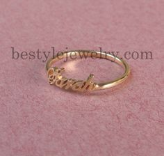Name Ring  Personalized Gift  Tiny Ring   Unique by Bestyle, $35.00