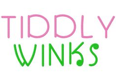 Stitch out this decorative machine embroidery font set on any project that needs a bit of tiddly winky fun!  The Tiddly Winks Machine Embroidery Font Set includes all Uppercase, Lowercase, Number...