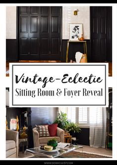 Vintage eclectic sitting and and foyer reveal   moroccan inspired interiors   Andanza wallpaper from Hygge & West