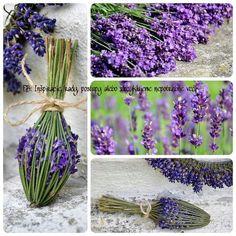 Wonderful ideas for the lavender season Lavender Wands, Lavender Crafts, Lavender Wreath, Lavender Flowers, Dried Flowers, Lavender Bouquet, Lavender Cottage, Lavender Fields, Nature Crafts
