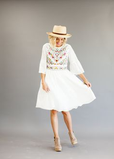 White Flowing Dress   ROOLEE