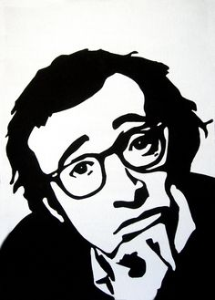 woody allen pop art black and white - Google Search