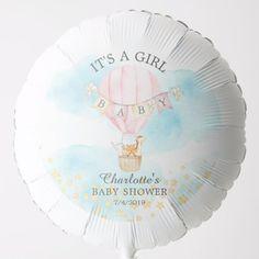 Cute Animals Hot Air Balloon Boys Baby Shower Baby Shower Ballons, Baby Shower Parties, Baby Boy Shower, Shower Party, Shower Gifts, Photo Balloons, Helium Balloons, Helium Gas, Hot Air Balloon Centerpieces