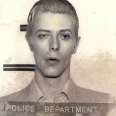 David Bowie, Mugshot, from For alleged possesion of marijauna. In my opinion the most beautiful mugshot ever taken ! Glam Rock, David Bowie Ziggy, David Bowie Eyes, The Thin White Duke, Goblin King, Life On Mars, Ziggy Stardust, David Jones, Mug Shots