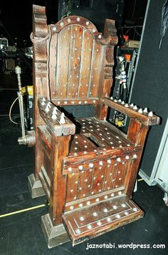 Closeup of Torture Chair from Broadway Show