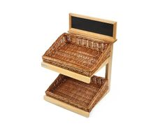 Retail Display Stands   Wood & Wicker Display Stands. 2 Tier Wooden Counter Top Display Stand - http://www.heartbeatuk.com/2-tier-counter-top-stand-wooden-stand-only-/product/592