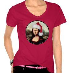 sold ! Mona Lisa's Santa Hat Tee Shirt shipping to San Marcos, CA  #Christmas