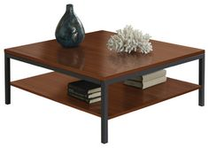 Parsons Edition Square Coffee Table in Cherry modern-coffee-tables