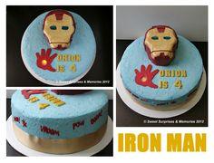 Iron Man Cake idea by Sweet Suprise Memories Iron Man Party, Ironman Cake, 4th Birthday Parties, 5th Birthday, Iron Man Birthday, Party Themes, Party Ideas, Avengers Birthday, Superhero Cake