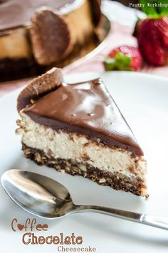 Coffee Chocolate Cheesecake - Rich and creamy, this coffee chocolate cheesecake is absolutely delicious! A slice and your taste buds will be in heaven!