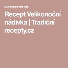 Recept Velikonoční nádivka   Tradiční recepty.cz