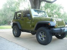 Buy the olive green Jeep I've always wanted.