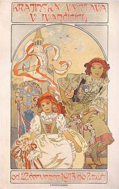 Regional Exposition at Ivancice, by Alphonse Mucha, 1913