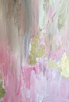 How To Make DIY Gold Leaf Abstract Art. LOVE this! #abstractart