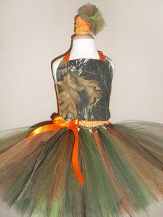 Mossy Oak Tutu Dress -Orange on Etsy, $34.31 CAD