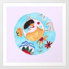 Teacup fairy by Nesting Spirits on Society6.
