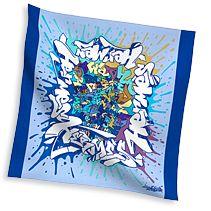 silk twill pocket squares in blue