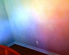 Lazure painting Rainbow.. Baby bedroom someday..
