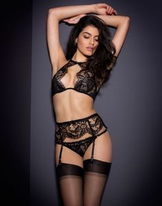 Shop the Agent Provocateur Spring Summer 16 lingerie and nightwear collection, and rediscover the love for the great outdoors and endless hot summer days. Hot Lingerie, Luxury Lingerie, Black Lingerie, Agent Provocateur, Sexy Poses, Anais Nin, Kendall, Baby Suspenders, Bikini