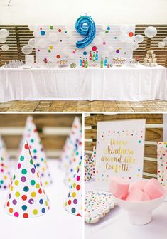 """Sprinkle Dot Fun"" Rainbow Birthday Blast // Hostess with the Mostess®"