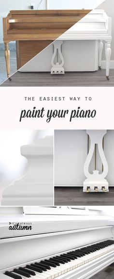 theres no need to be scared of painting your piano - this post shows the easiest way to do it with the best result (hint: its not chalk paint!) - Diy for Home Decor Furniture Projects, Furniture Makeover, Home Projects, Diy Furniture, Painted Pianos, Painted Furniture, Pianos Peints, Refinish Piano, The Piano
