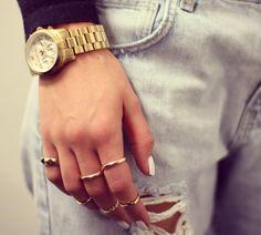 Michael Kors Chronograph Gold Tone Watch