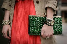 Emerald clutch.