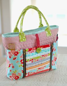 Love this bag by Cotton Way: It's for sewing supplies but I think it would make a great regular bag!
