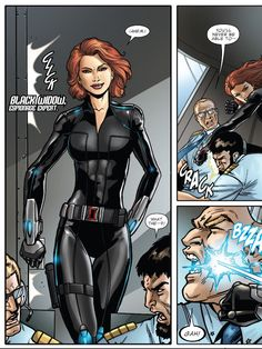 Black widow Black Widow Movie, Black Widow Scarlett, Black Widow Natasha, Black Widow Marvel, Dc Comics Women, Comics Girls, Marvel Dc Comics, Hulk Vs Superman, Comic Book Printing