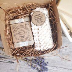 Set de regalo de baño jabón orgánico y paño por TheHerbalWorkshop