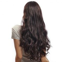 Nobby Full Bang Extra Long Wave Brown Synthetic Wig For Women (DEEP BROWN) | Sammydress.com Mobile