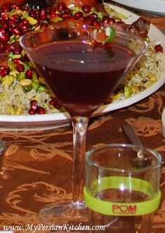 Persian inspired cocktail Persian Ruby