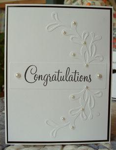 Congrats using QuicKutz Vine Label embossing folder