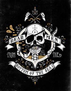 Dirty Bones - Illustrations by Tobias Saul, via Behance