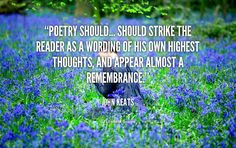 john keats quotes - Google Search