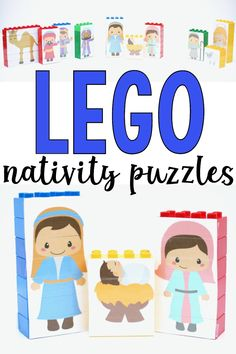 Using these LEGO Nativity Puzzles is the perfect way to make the story of the birth of Christ meaningful for young children in a tangible, kinesthetic way. Advent Activities, Activities For Adults, Christmas Activities For Kids, Preschool Christmas, Preschool Activities, Christmas Books, Kids Christmas, Christmas Decor, My Children