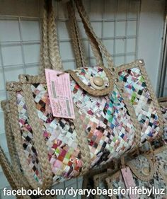 Dyaryo Bags for Life - Eco-Friendly Handbags, Totes, Purses and Shopping Bags by Luzviminda Madriñan Newspaper Bags, Shopping Bags, Diaper Bag, Eco Friendly, Totes, Shoulder Bag, Handbags, Purses, Life