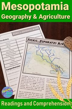 Teach Ancient Mesopotamia Geography and Agriculture to grade or middle school social studies students, including Tigris and Euphrates Rivers maps and inventions. 6th Grade Activities, Teaching 6th Grade, Geography Activities, Road Trip Activities, History Activities, Teaching History, Mesopotamia Lesson, Ancient Mesopotamia, Ancient Civilizations