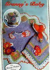Crochet Granny's Baby -- Dress, Bonnet, & Sun Bonnet Sue Security Blanket