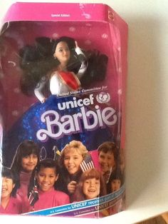 Unicef Barbie Asian face mold NRFB rare #Mattel #Dolls