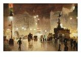 Piccadilly Circus, London Giclee Print by George Hyde-Pownall