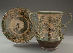 Jallpa Nina  Hand Painted Peruvian Pottery
