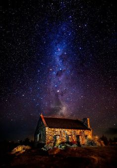 Church of Good Shepards, Lake Tekapo, New Zealand. Special guest appearance by Milky Way