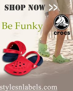 Swank out in high style in these cool crocs as you flaunt your new found look. The awesome colours with the wacky designs are sure to bring out the inner style freak within you.  stylesnlabels.com brings to you Crocs. Born in Boulder, Colorado as a simple, today Crocs footwear can be found across the globe and in more than 120 styles for men, women and children. To buy them visit www.stylesnlabels.com