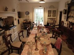 English Holiday Table, Ben Pentreath, kitchen after party, long table with disarrayed chairs and remnants of meal from the night before Dinning Nook, Dining Rooms, Kitchen Dining, Dining Chairs, Dining Table, Unfitted Kitchen, English Country Kitchens, Ben Pentreath, English Decor