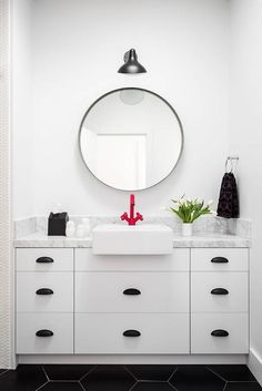 An Affordable Black and White and Modern Home Decor Renovation : Bathroom