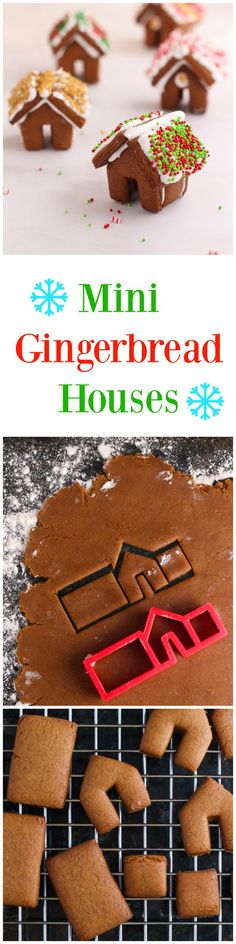 A recipe for mini gingerbread house cookies. Perfect for the holidays, for gifts, or for yourself!