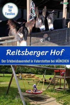 Der Reitsberger Hof liegt in Vaterstetten, im Osten von München. Der Hof ist ein großer zertifizierter Erlebnisbauernhof mit vielen Tieren, Spielplatz, Strohburg uvm. #bauernhofmünchen #münchenmitkindern #ferienmünchen #erlebnisbauernhof #bauernhofbayern #bauernhofreiten #ponyreitenmünchen #kindergeburtstagmünchen #bauernhofkinderausflug #ausflugszielemünchen #ausflugszielemitkindern #ferientipp Munich, Camping, Activities For Kids, Post, Places To Visit, Germany, World, Fun, Travel