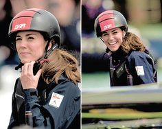 The Duchess of Cambridge joins the Land Rover BAR team on board their training boat, as they run a training circuit on the Solent on May 20th, 2016.