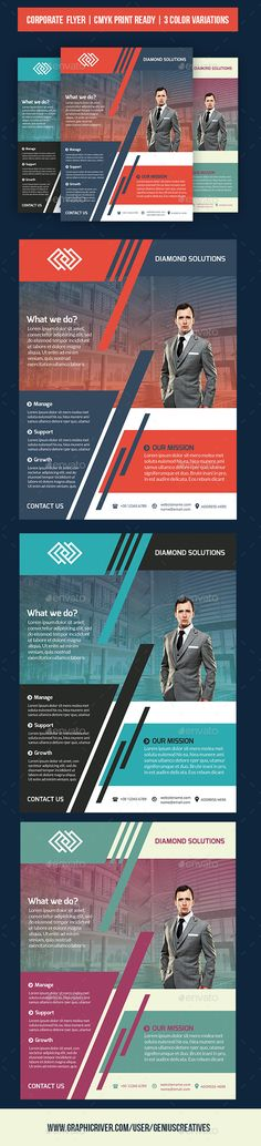 Corporate Business Flyer by GeniusCreatives Corporate/Business Flyer Template Nice vivid design with a great layout for small businesses, startups, and corporations. This fl